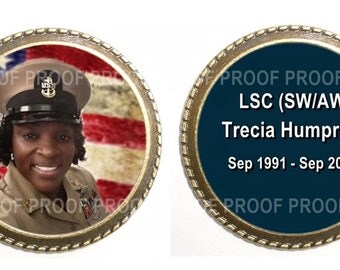 RESERVED FOR TSX06ME - 4 (Buy 3 Get the 4th Free) Groom's or Military 2-sided Bronze Wedding Memorial Pocket Coin - Free Shipping
