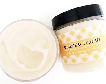 Glazed Donut Lotion, Shea Butter Goat Milk and Honey Hand and Body Lotion, Body Cream, Hand Cream, Hand Lotion, Moisturizer