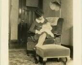 "Vintage Photo ""The New Daughter"" Snapshot Antique Black & White Photograph Found Paper Ephemera Vernacular Interior Design Mood - 81"