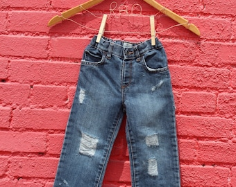 Toddler Jeans Distressed Jeans 3T Baby Jeans Ripped Baby Jeans Ripped Jeans Distressed Denim Trendy Baby Clothes Ripped Kids Jeans