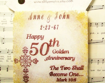 50th Anniversary Gift, The Two Shall Become One, Mark 10:8, Christian Wedding Gifts, Coasters, Wedding Registry, Personalized Wedding Gifts