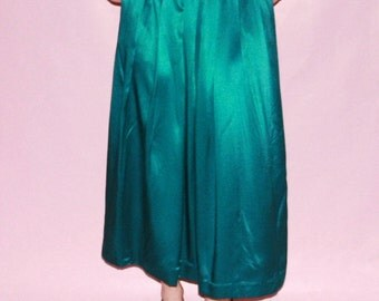 Teal Silky Maxi Skirt