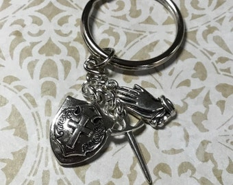 Armor of God Key Ring, Christian Accessories, Witness Jewelry, Ephesians 6-10, Accessories