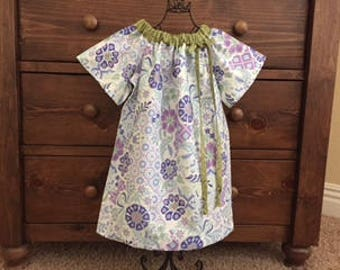 Peasant Dress - Birthday Dress - Girls Summer Dress - Holiday Dress  -  Girls  Size 6   Dress  -  Ready to ship  By Emma Jane Company
