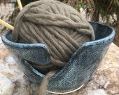 Pottery Yarn Bowl, Ceramic Yarn Bowl, Knitting Bowl, Crochet Bowl, Yarn Accessory, Knitting Gift Idea, Crocheting Gift Idea, For the Knitter