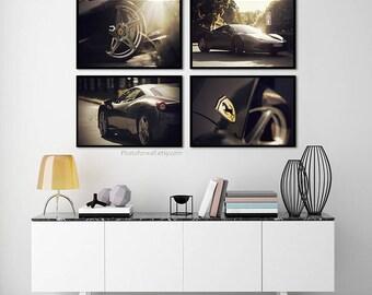 Ferrari race car large wall art/prints/Ferrari wall decor/men office decor/kids room decor/newborn boys room decor/Nursery decor/mancave