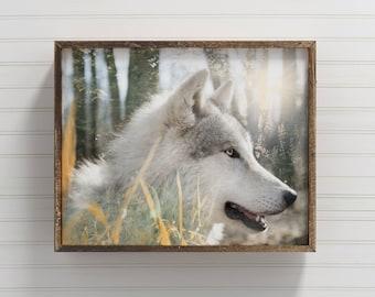 Wolf Print, Boho Art, Wolf Art, Nursery Decor, Spirit Animal, Wildlife Print, Totem Animal, Nature Print, Wolf Decor, Boho Decor Nursery