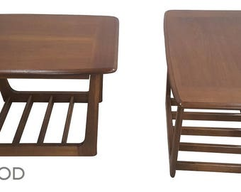 midcentury modern vintage bassett astra end tables a pair