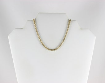 10K Yellow Gold Rolo Link Chain Necklace 20 3/4 inch 3.5 mm