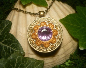 Amethyst Spell - fantastic handmade Necklace with huge Amethyst