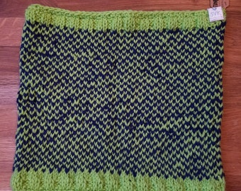 Seattle NFL Knit Checkerboard Cowl