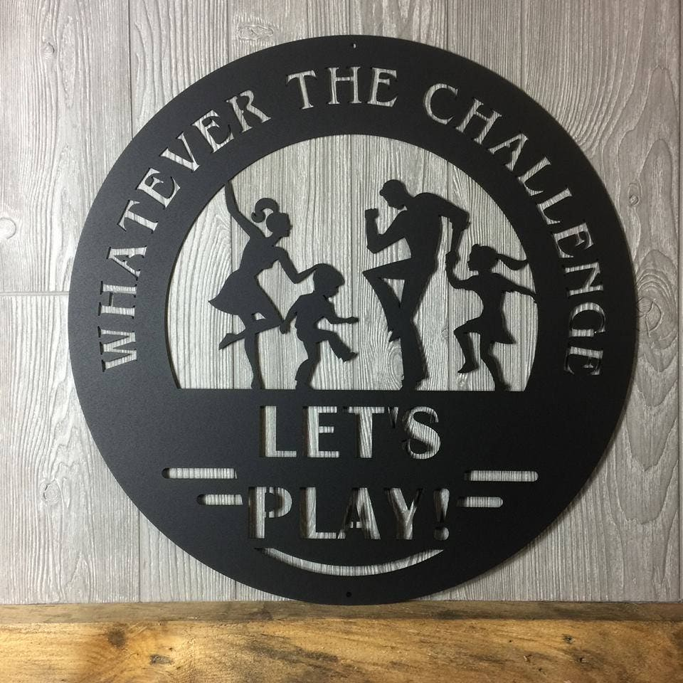 Retro Custom Game Room Letu0027s Play Sign, Vintage Man Cave Sign,  Inspirational Quote Wall Art, Bonus Room Decor, Metal Wall Sign, Play Room