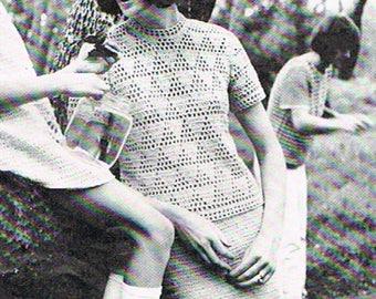 Vintage Patons Womens Skirt PDF Pattern