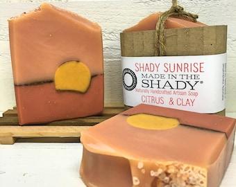 organic citrus soap, natural citrus soap, citrus scented soap, homemade soap,citrus soap,essential oil soap, clay soap, clay facial soap