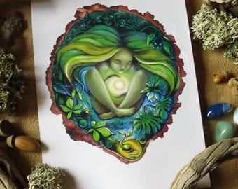 Goddess of Nature- Art Print - A4