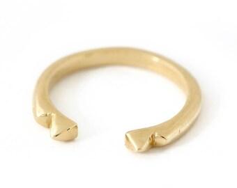 Spike Gold Half Ring
