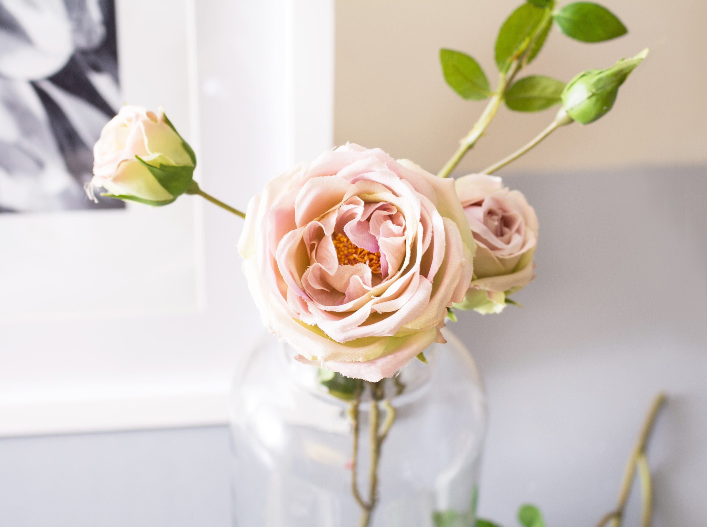 1pc Dusty Pink Garden Rose Roses A Grade Silk Flower High Quality