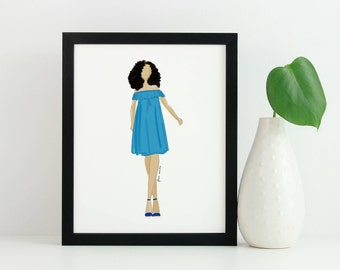 Custom Fashion Illustration 8x10, Art Print, Fashion Illustration, Fashion Sketch, Custom Illustration, Custom Portrait