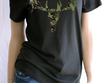 Women's Deer. Hunting. Elk. Antler Shirt. Country Shirt. Country Clothing. Country Tshirt. Camo.Antler. Country. Country Girl.