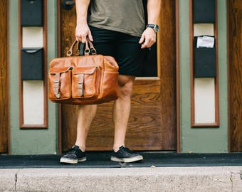 Leather Weekend Bag // Leather Luggage // Leather Travel Bag