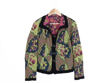 Vintage Psychedelic Reversible Tapestry Jacket Size S/M