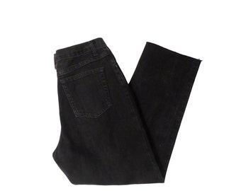 Vintage Black Denim High Waisted Mom Jeans Size 31 x 29