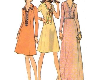 McCalls 3417 Sewing Pattern A Pounds Thinner Pattern Misses Princess Dress with Neckline and Length Variations sz 18 Bust 40 Uncut