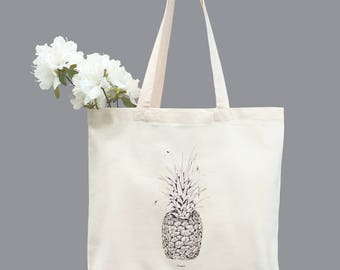 TOTE Bag - Cotton Tote Bag - Shopping bag - Pineapple