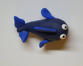 Fish magnet in fimo
