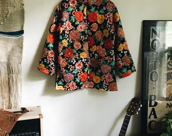 Vintage 60's Quilted Toggle Jacket