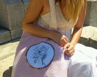 Powder Pink Paeonia bag