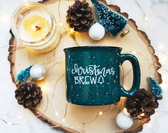 Christmas Brew / Winter / Green Campfire Mug