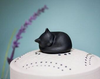 Cat Urn / Black Cat / Keepsake Box / Pet Memorial / Pet Loss Gift / Memory Box /DARLING EBONY / Cat Lover / Cat / Pet Urn / Cremation Urn