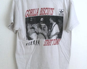 Gorilla Biscuits Start Today Revelation Records shirt SMALL