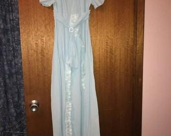 1950s Empire Waist Evening Dress