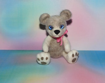 Needle Felted Teddy Bear - One of a kind.