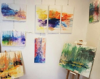 Abstract inspiration, modern art in harmony of colors, transmit emotions, travel in the divine