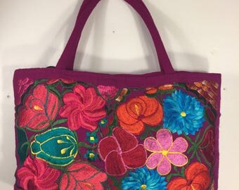 Mexican hand made embroidery purses