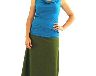 Simple Cowl Tank - XS - MARINE - Organic Cotton/Spandex