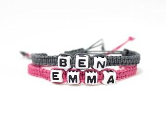 His and Hers bracelets | Couples bracelet | Personalised Bracelet | Initial bracelets | Custom name bracelet | Friendship bracelet | Lett