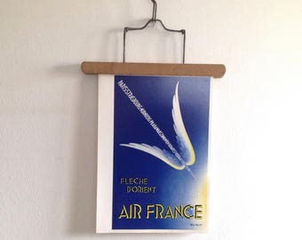 Air France Menu PARIS-TORONTO in Boeing 747 - Illustration Paolo-Federico Garretto - The Oriental Arrow