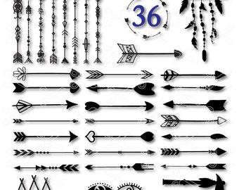 Arrow SVG, PNG, DXF, Eps Cutting Files, Arrows Clipart, Arrow Vector, Decorative arrows, tribal arrow svg, tribal svg, boho arrows svg, boho