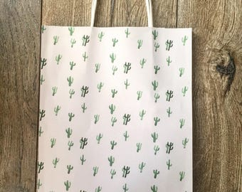 Water Color Cactus Gift Bag