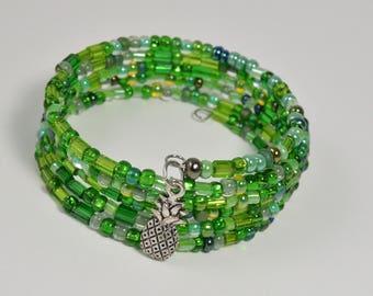 Memory Wire Bracelet Coil Bracelet Wrap Bracelet Aqua