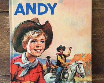 Cowboy Andy Vintage Children's Book
