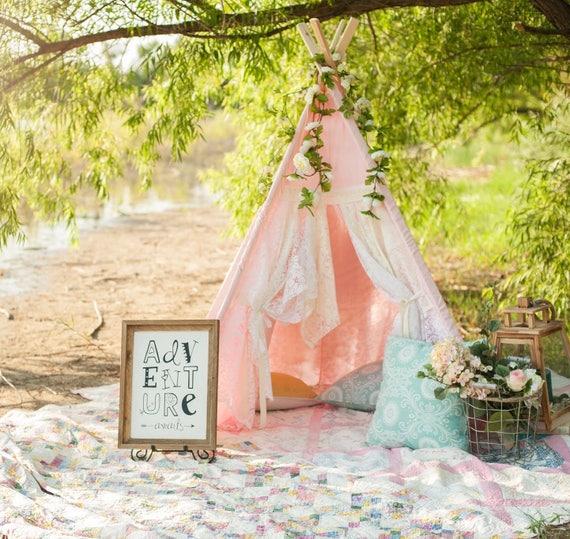 Like this item? & Pink Lace Teepee Kidu0027s Teepee Teepee Play Tent