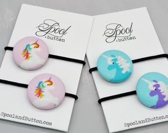 Unicorn Elastic Hair Tie, Glitter Unicorn gift for Teen, Unicorn Birthday
