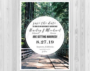 Wedding Save the Date, Photo Save the Date, Rustic Save the Date, Mountain Wedding Save the Date, Printable Save the Date, Adventure Wedding