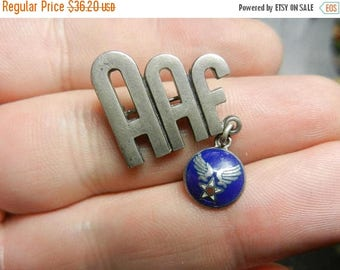 Summer Sale Vintage WW2 Sterling Silver AAF Army Air Force Pin