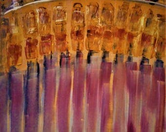 """Original Abstract Oil Painting by Nalan Laluk: """"Shooting Gallery"""""""